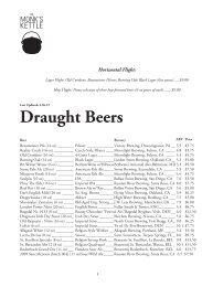 Draught Beers