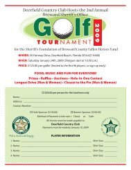 Deerfield Country Club Hosts the 2nd Annual Broward Sheriff 's Office