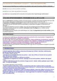 Programmes du CE2, du CM1 et du CM2