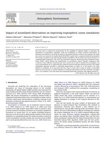 Impact of assimilated observations on improving tropospheric ozone ...