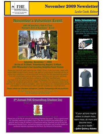 November 2009 Newslette rr - Healthcare Leadership Network ...