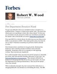 Fire Department Donation Nixed - 11/15/10 - Wood LLP