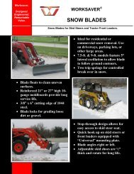 Worksaver Snow Blade.. - Edney Distributing Co. Inc.