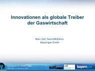 Innovationen als globale Treiber der Gaswirtschaft - Bayerngas GmbH