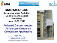 Advances in Activated Carbon Injection Technology for ... - MARAMA