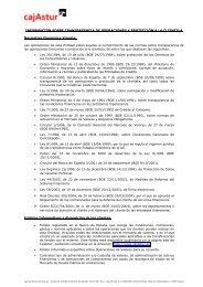 Información sobre transparencia de operaciones y ... - Cajastur