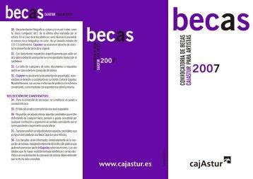 Becas Cajastur para Artistas 2007