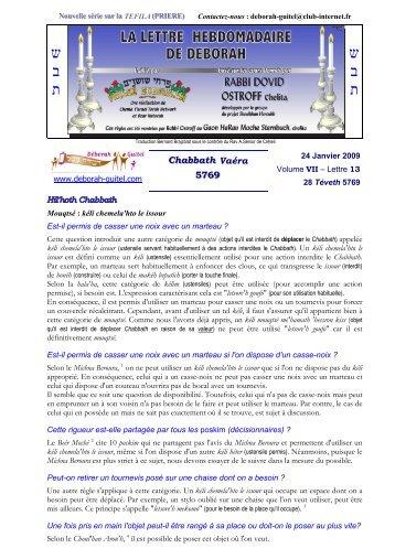 Volume VII - lettre n°13 - Association Deborah Guitel