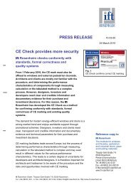 PRESS RELEASE CE Check provides more security - fensterbau ...