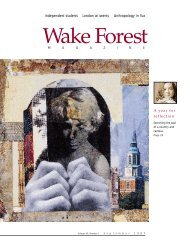 Wake Forest Magazine, Sept. 1997 - Past Issues - Wake Forest ...