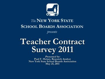 Teacher Contract Presentation - New York State School Boards ...