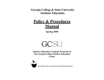 Policy and Procedures Manual - GCSU Faculty Web Server ...