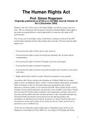 The Human Rights Act - Centre for Computing and Social ...
