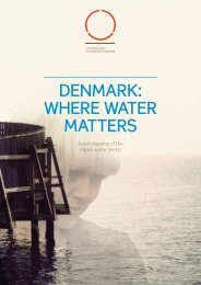 DENMARK: WHERE WATER MATTERS - Copenhagen Cleantech Cluster