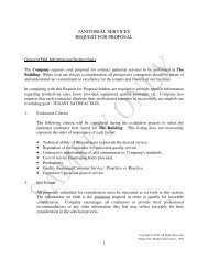 JANITORIAL SERVICES REQUEST FOR PROPOSAL General Bid ...