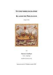 studienbibliographie klassische philologie - Bibliographien ...