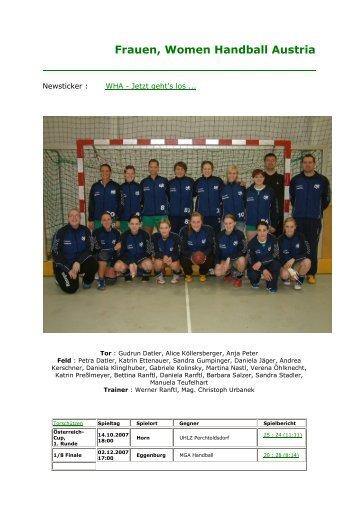 Frauen, Women Handball Austria - UHC Eggenburg