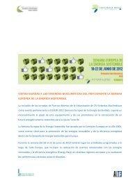 visitas guiadas a las viviendas bioclimáticas del iter durante la ...