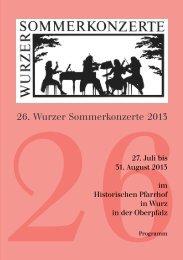 2626. Wurzer Sommerkonzerte 2013