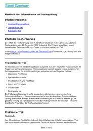 Inhaltsverzeichnis Inhalt der Fischerprüfung Theoretischer Teil ...