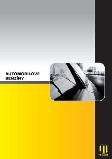 Automobilové benzíny TDS (pdf, 1 MB) - Slovnaft