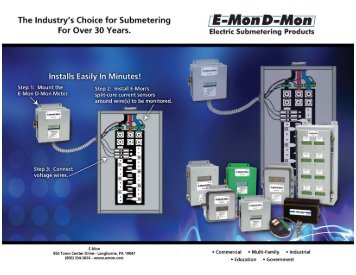 E-Mon Metering Products Application Flyer