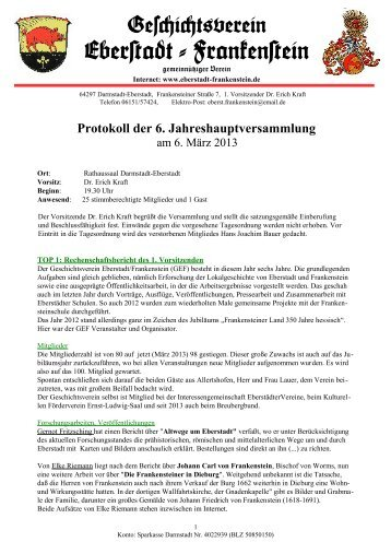 Gescict+verein Eber#adt-Franken#ein - Geschichtsverein Eberstadt ...