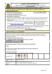 karta charakterystyki 1. identyfikacja substancji / preparatu ... - Slovnaft
