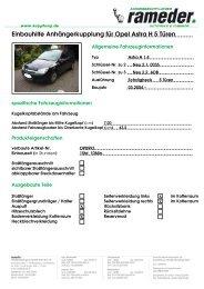 Einbauhilfe Anhängerkupplung für Opel Astra H 5 Türen