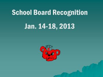 School Board Recognition Jan. 14-18, 2013 - Chamberlain School