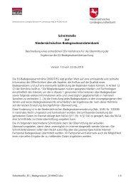 Schnittstelle zur Niedersächsischen ... - Niedersachsen