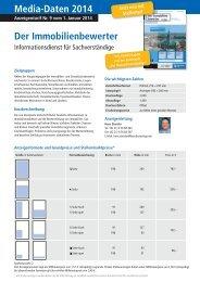 Media-Daten 2014 Der Immobilienbewerter - Bundesanzeiger Verlag