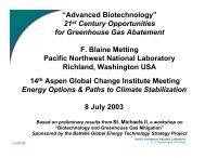 Advanced biotechnology - Aspen Global Change Institute