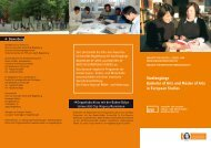 Studiengänge Bachelor of Arts und Master of Arts  in European Studies