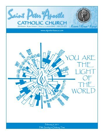 Bulletin - February 6, 2011 - Saint Peter The Apostle Catholic Church