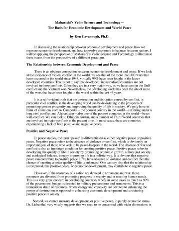Maharishi's Vedic Science and Technology - Maharishi University of ...