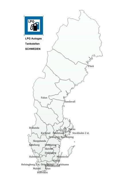 Tankstellen In Schweden Gasol Malmo Lpg Ab
