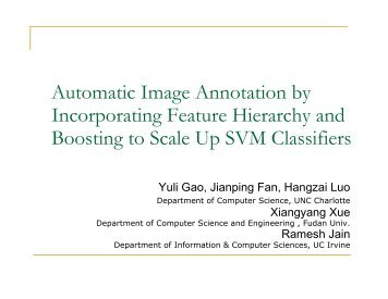 Automatic Image Annotation by Incorporating Feature Hierarchy and ...