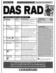 Arbeitsblatt 3 DAS RAD - Scholastic