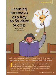 Learning Strategies as a Key to Student Success - National ...