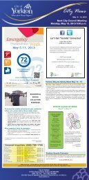City of Yorkton News for the week of May 8 to May 14, 2013
