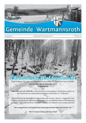 Gemeindebote Dezember 2013 - Gemeinde Wartmannsroth