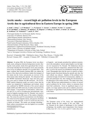 Final Revised Paper - Atmospheric Chemistry and Physics