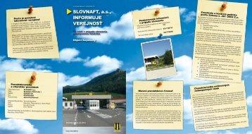 Kapušany (pdf, 1.8 MB) - Slovnaft