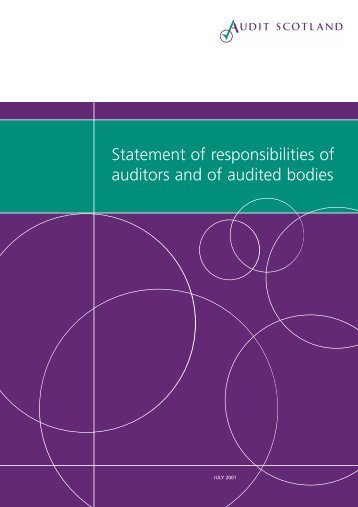 Statement Of Responsabilities Of Auditors And Of ... - Audit Scotland
