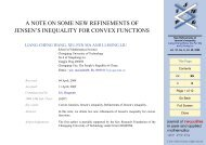 A Note on Some New Refinements of Jensen's Inequality for Convex ...