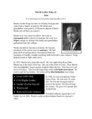 Martin Luther King, Jr - The Nobel Peace Laureate Project