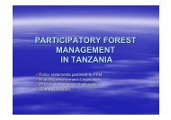 participatory forest management in tanzania - Tanzania Online ...