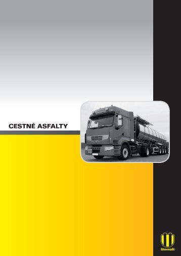 Cestné asfalty (pdf, 613 kB) - Slovnaft