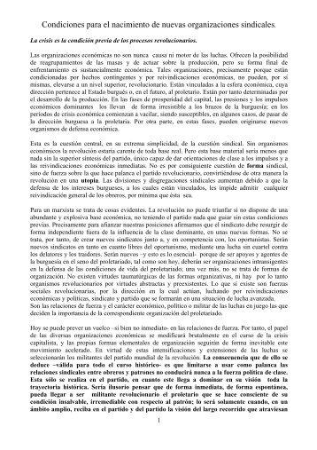 Condiciones para el nacimiento de nuevas - Partito Comunista ...